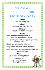 Block BBQ  2013 flyer